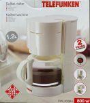 Telefunken koffiezetapparaat 1,2L 800w wit