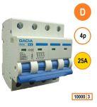 Gacia installatieautomaat 4 polig D25a karakteristiek D 10kA