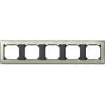 SE mtn467514 zilver/antraciet 5-v afdekraam m-star metaal